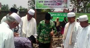 Wabup Limapuluh Kota H Asyirwan Yunus letakkan batu pertama IPHI Center Limapuluh Kota