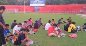 Suasana latihan akademi PSP.