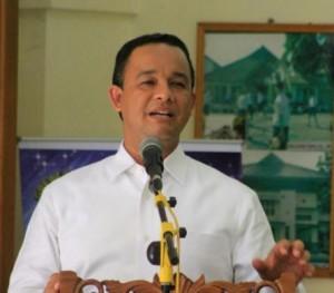 Menteri Pendidikan dan Kebudayaan, Anies Baswedan mengumumkan Indeks Integritas UN SMP secara nasional di SMP Negeri 1 Kota Magelang,