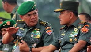 bersama Panglima TNI Jenderal Moeldoko