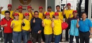 Waketum II KONI Sumbar Handrianto bersama tim Boling Pra Pon.