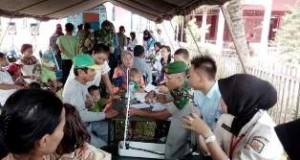 PENGOBATAN GRATIS DALAM RANGKA HUT TNI ke-70 .