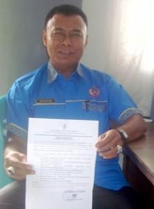 Wakil Ketua KONI Kota Payakumbuh Eri Bastari terima Surat Edaran Walikota