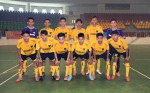 Tim PON Sumbar, jelang laga perdana Piala Walikota Pekanbaru 2015 melawan Pelalawan Riau, Senin (14/9) di GOR Gelanggang Remaja Pekanbaru.