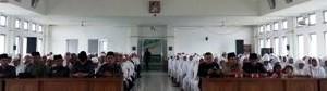 Penyambutan jamaah haji resmi di Limapuluh Kota.
