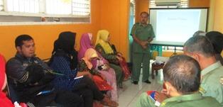 Kepala KAP Payakumbuh Zulrefri ketika memberikan sambutan  kegiatan PLM.