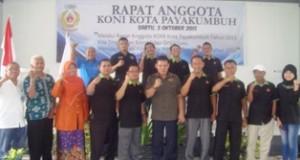 Rapat Anggota KONI Kota Payakumbuh 2015 ditutup Ketua Umum KONI Sumbar