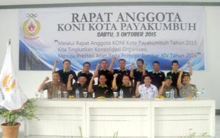 Rapat Anggota KONI Kota Payakumbuh 2015 dibuka Wawako Payakumbuh H Suwandel Mukhtar
