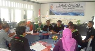 Rapat Anggota KONI Kota Payakumbuh 2015. Sidang Komisi B Bidang RENA dan Audit Internal.