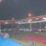 Ustadz Fikri Haikal saat memberikan tausiah 1 Muharam di Padangpanjang.