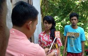 Suasana Rekonstruksi kasus pembunuhan ibu muda di Sungai Limau, Padangpariaman.