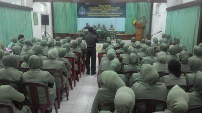 Ketua Persit KCK Koorcab Rem 032 Kunker Ke Cabang LVIII Dim 0304