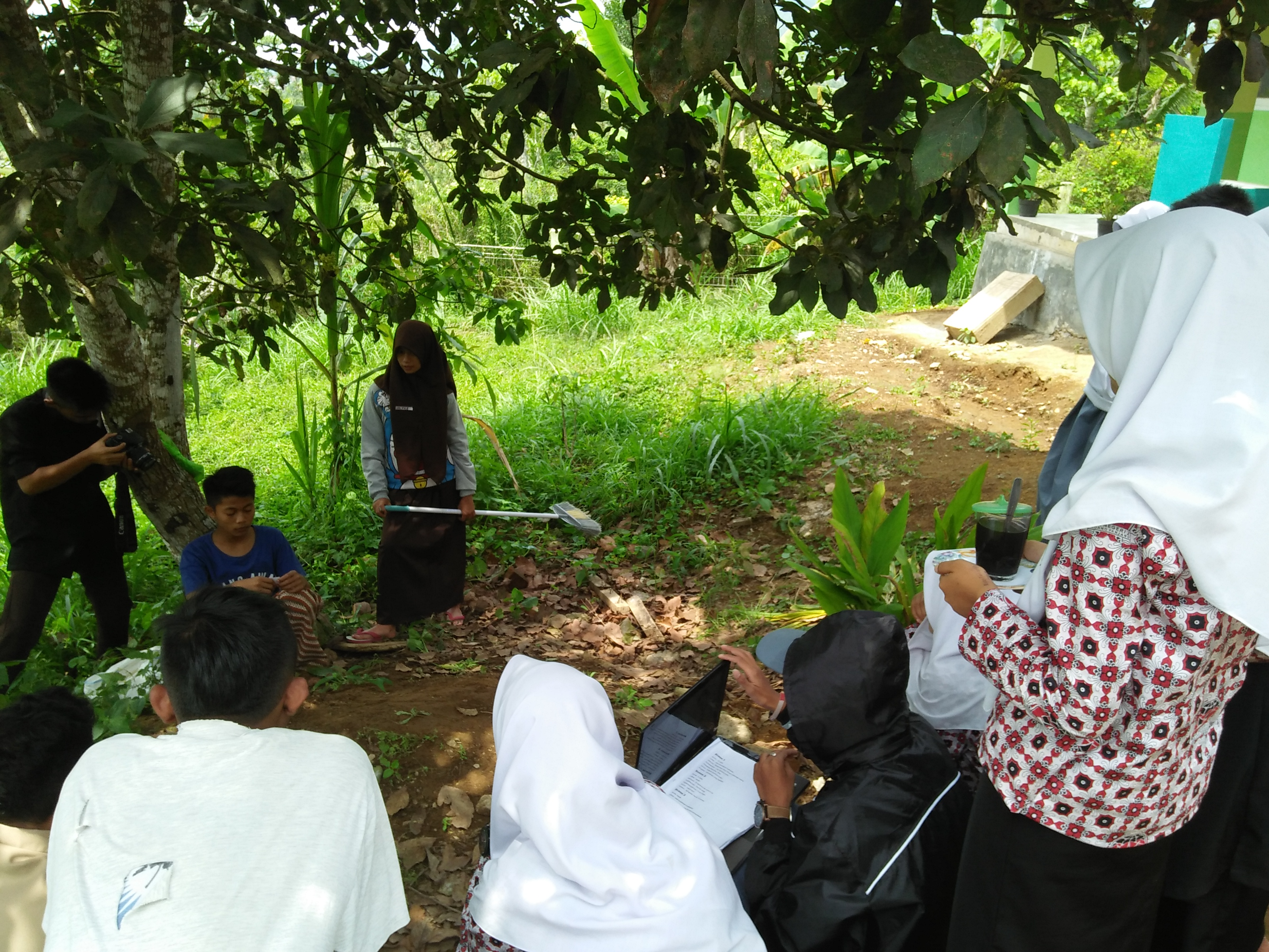 Suasana pembuatan Film pelajar Kota Padangpanjang.