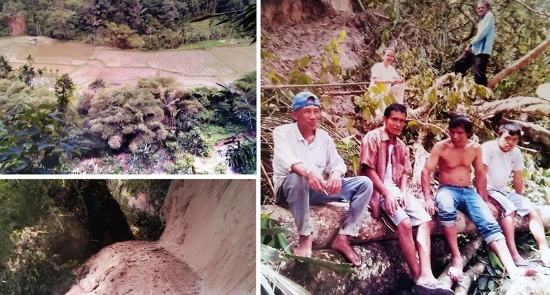 4 Warga yang membangun jalan Ateh Koto - Singkopau dengan sukarela