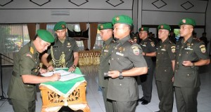 Tiga Komandan Distrik Jajaran Korem 032 Diserahterimakan