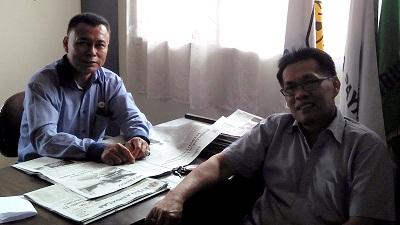 Wakil Ketua KONI Kota Payakumbuh Eri Bastari dan Ketua Bidang Rena Zurmanuddin