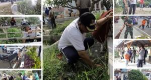 Walikota Riza Falepi, Wakil Walikota Suwandel Mukhtar, Dandim 0306 Letkol Heri Sumitro beserta jajaran TNI dan Kepolisian Goro bersama