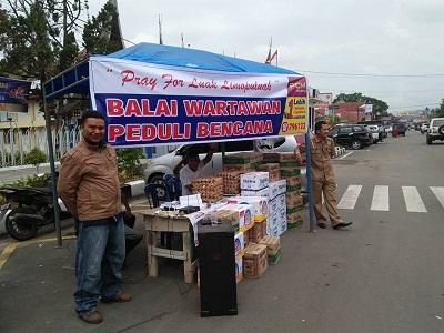 Wartawan Luak Limopuluah kumpulkan sumbangan bencana di Hari Pers Nasional