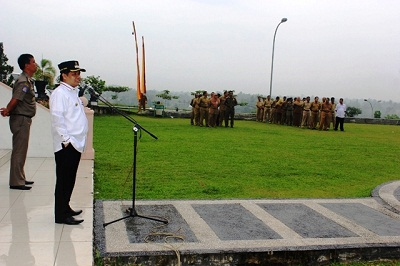 Wabup Ferizal Ridwan pimpin Apel pegawai