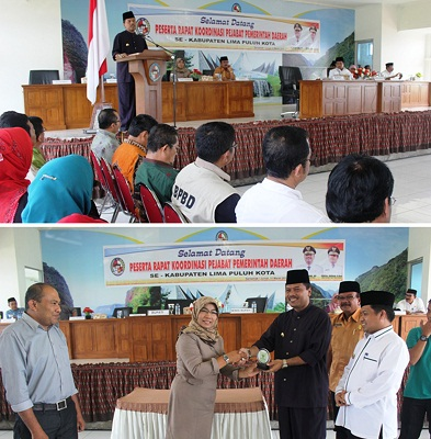 Bupati dan Wakil Bupati memimpin Rakor Eselonering bersama Komisi Informasi Sumbar.