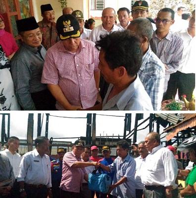 H Suwandel Muchtar bantu korban kebakaran di Parik Rantang