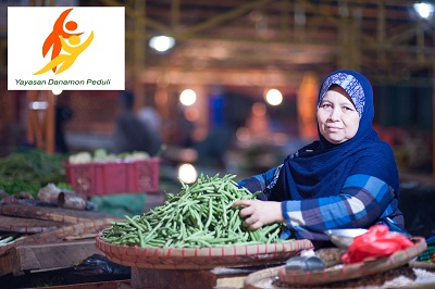 Pedagang Sayuran di Pasar