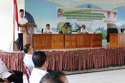 Pemkab Limapuluh Kota menggelar rapat koordinasi dengan seluruh wali nagari yang ikut dihadiri staf khusus Kementerian Desa Pembangunan Daerah Tertinggal dan Transmigrasi Indra SG Lubis