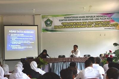 Kemenag Sosialisasikan KMA 9, Gusman Piliang: Tata Naskah Dinas Wibawa Lembaga