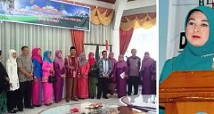 Lembaga Koordinasi Kesejahteraan Sosial Limapuluh Kota dipimpin istri Bupati, Monalisa, dilantik Bupati Irfendi Arbi.