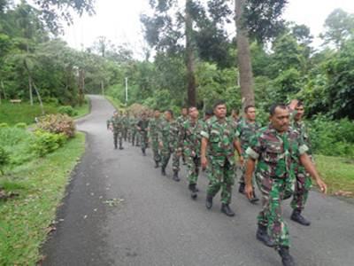 Seluruh personil Kodim 0308/Pariaman laksanakan Samapta.