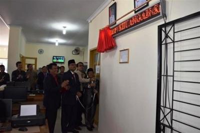 Bupati Limapuluh Kota, Irfendi Arbi Resmikan Pemakaian Kantror DPPKAD, Jum'at (20/5/2016).