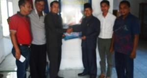 Tim Pemenangan Pemilu Daerah DPD Partai Keadilan Sejahtera Kota Payakumbuh menerima formulir pendaftaran.