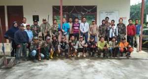 Liko SC usai melaksanakan berburu tupai di daerah Taeh.