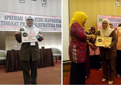 Nengka Putri SPd Juara Lomba Apresiasi PTK Paudni Tingkat Provinsi Sumatera Barat 2-3 Mei 2016 di Padang