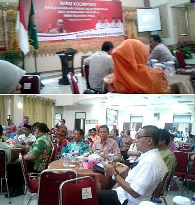 Rapat Koordinasi Penyelenggaraan Administrasi Kependudukan serta Pemanfaatan NIK & KTP-el untuk Pelayanan Publik di Anai Resort Padangpariaman