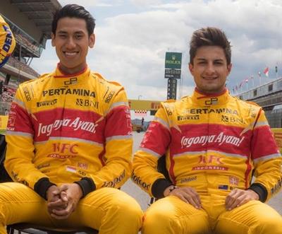 Sean Gelael dan Mitch Evans, pebalap tim Pertamina Campos Racing.
