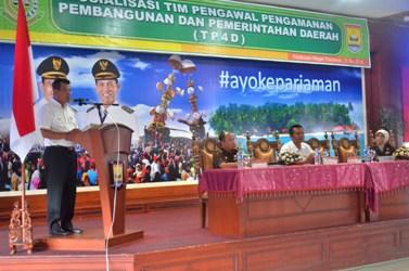 Walikota Pariaman, Mukhlis Rahman beri sambutan sosialisasi TP4D di Pariaman