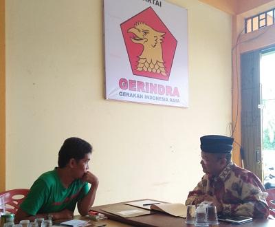 Ambil Formulir di Gerindra, H Almaisyar Satukan Semua Unsur, H Almaisyar serius berdiskusi dengan pengurus Partai Gerindra