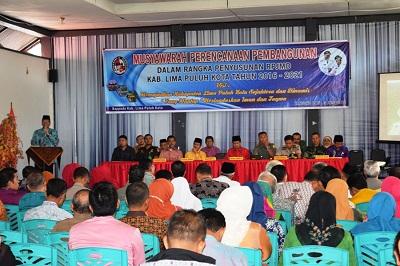 Bupati Irfendi Arbi buka Musrenbang RPJMD 2016-2021
