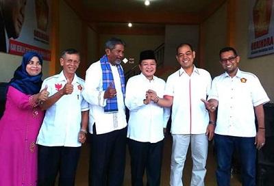 H Almaisyar dan pengurus Partai Gerindra