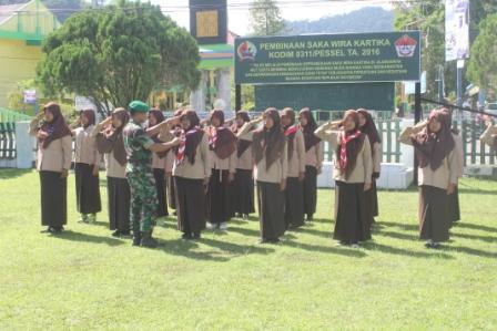 Latihan Saka Wira Kartika TA. 2016 se-Painan di Makodim 0311/Pessel, Jum'at (03/06)