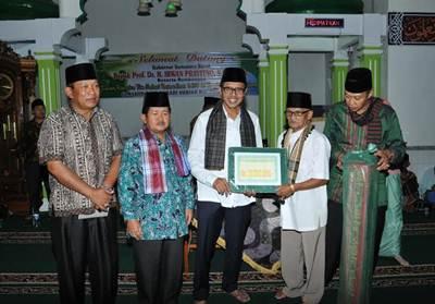 TSR Provinsi Sumatera Barat disambut hangat oleh jemaah Masjid Raya Nagari Surian Kecamatan Pantai Cermin Kabupaten Solok, Sabtu (25/6) malam.