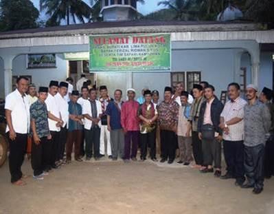 Wakil Bupati Ferizal Ridwan dalam kunjungan Tim Safari Ramadhan di Nagari Galugua, Kecamatan Kapur IX,  Rabu (15/6) malam.