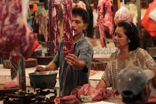Foto Ilustrasi di pasar Tradisional Menjelang Rahmadan dan Lebaran