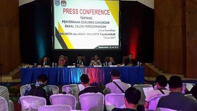 Press Conference KPU Kota Payakumbuh