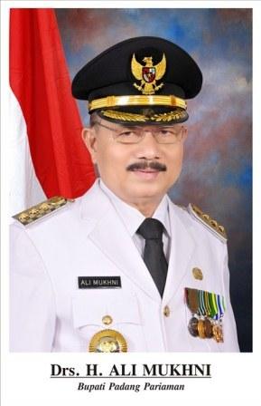 Bupati Padangpariaman, Drs. Ali Mukhni Periode 2016-2021