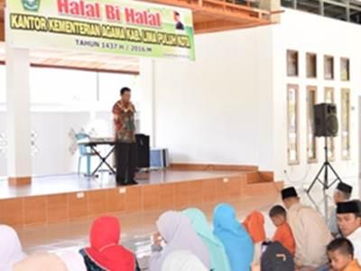 Kemenag Adakan Halal Bi Halal, Gusman Piliang: Puasa Lalu Sarana Tarbiyah