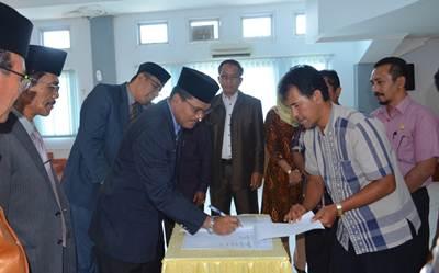 Bupati Limapuluh Kota tandatangani nota persetujuan  bersama terhadap 5 Ranperda menjadi Perda