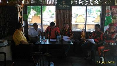 Rapat Konsolidasi MPC Pemuda Pancasila Payakumbuh/f: Ricky Morel