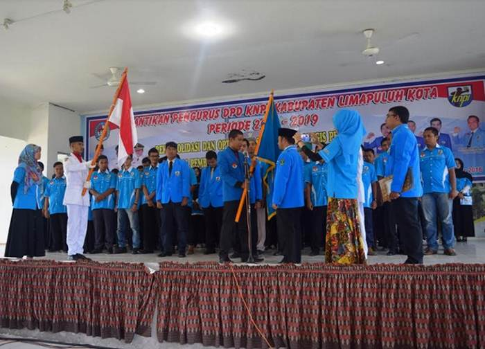 Pengurus DPD KNPI Limapuluh Kota Dilantik, Kamis (8/9).